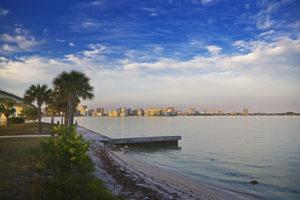 Coastal shore of downtown Sarasota Florida